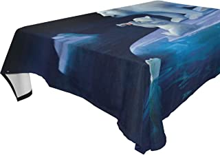 YOYUPRO Coca Cola Polar Bears Printed Table Cloth Spillproof Polyester Fabric Rectangle Tablecloths