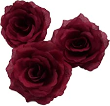 Silk Flowers Wholesale 100 Artificial Silk Rose Heads Bulk Flowers 10cm For Flower Wall Kissing Balls Wedding Supplies (Dark Red)