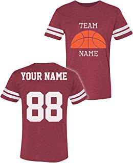 Custom Cotton T-Shirts - ADD Your Name Number - Team Apparel - Design Your Jersey