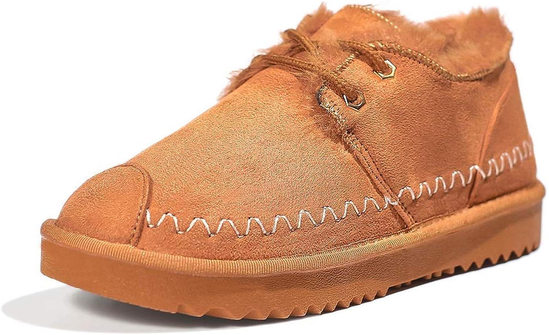 Women's Snow Boots, Winter Comfortable Warm Plush Handmade Low-Cut Cotton shoes