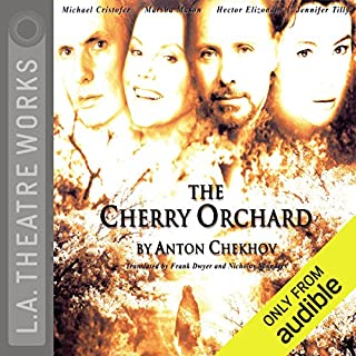 The Cherry Orchard                   By:                                                                                                                                 Anton Chekhov                               Narrated by:                                                                                                                                 Marsha Mason,                                                                                        full cast                      Length: 1 hr and 44 mins     89 ratings     Overall 3.9