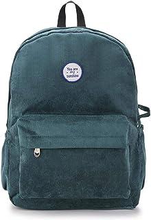 Ling-long Backpack Women Backpack Velvet Travel Bag Shoulder Bag for Women Teenage Girl School Bag Rucksack Bagpack,Clear,40X30X10Cm-Clear-40X30X10CM