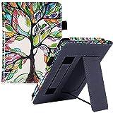 Caso Para Kindle,Funda De Cubierta Para Todos Los Kindle Paperwhite Generaciones E-Readers - Con Soporte / Correa De Mano / Cierre Magnético Y Sueño Automático / Despertar, Árbol De Color, Para Todos