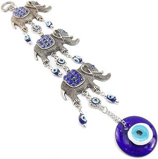 Peili Décoration amulette à suspendre Différentes formes Bleu, Métal, éléphant, 26cm*10cm