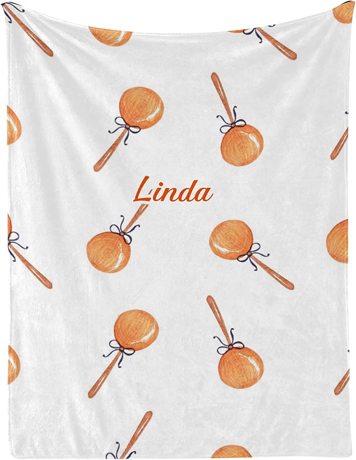 Christmas Lollipops Easy-to-use Watercolor Personalized latest Blankets Baby with N