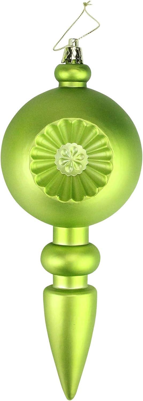 New mail order DAK 4ct Matte Green Kiwi Retro Shatterproof Reflector Christmas Sale SALE% OFF