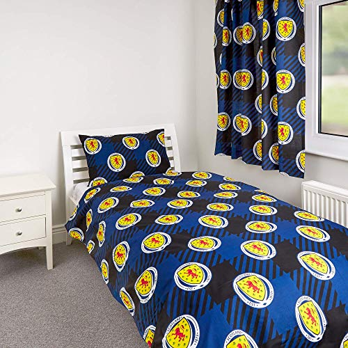 SCOTTISH FA Zappi Co Scotland Tartan Army Official Licensed Football Bedding Duvet Set (Single Duvet Cover)