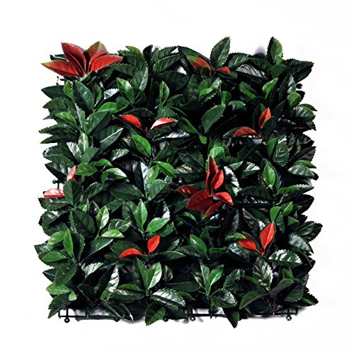 Viridium Photinia Siepe artificiale in mattonelle da 50x50 cm