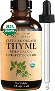 Organic Thyme Essential Oil (4 oz) Certified Organic by Mary Tylor Naturals