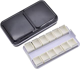 YNuth Caja Vacía de Metal para Acuarela con 12 Pans Acualera Medias