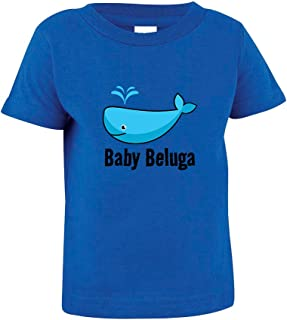 Baby Beluga Blue Whale Toddler Baby Kid T-Shirt Tee Royal Blue 3T