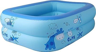 Plcnn Piscinas inflables rectangulares 47 x 30 x 14 pulgadas, piscina para niños y adultos con fondo espesado, jardín, patio trasero, centro de natación de verano