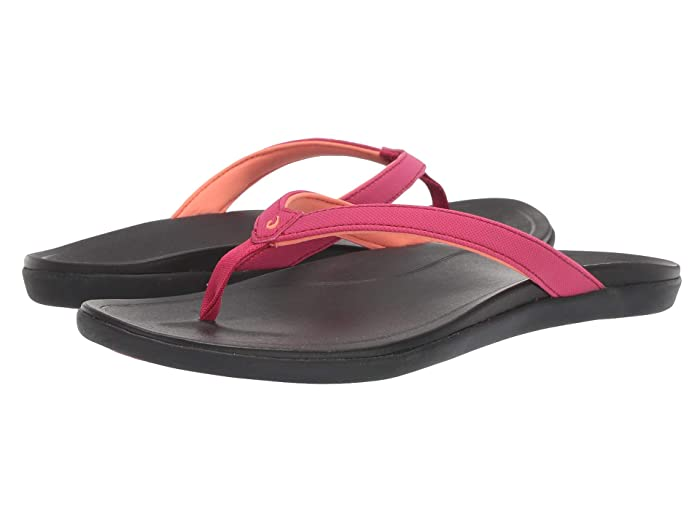 Ho'opio  Shoes (Deep Magenta/Black) Women's Sandals