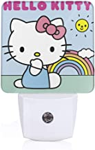 Meirdre Plug in Night Light - Hello Kitty Rainbow Warm White LED Nightlight with Automatic Dusk-to-Dawn Sensor