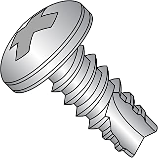 Phillips Drive 1 Length Type F Pan Head Plain Finish #8-32 Thread Size 1 Length Small Parts 0816FPP188 Pack of 50 18-8 Stainless Steel Thread Cutting Screw Pack of 50