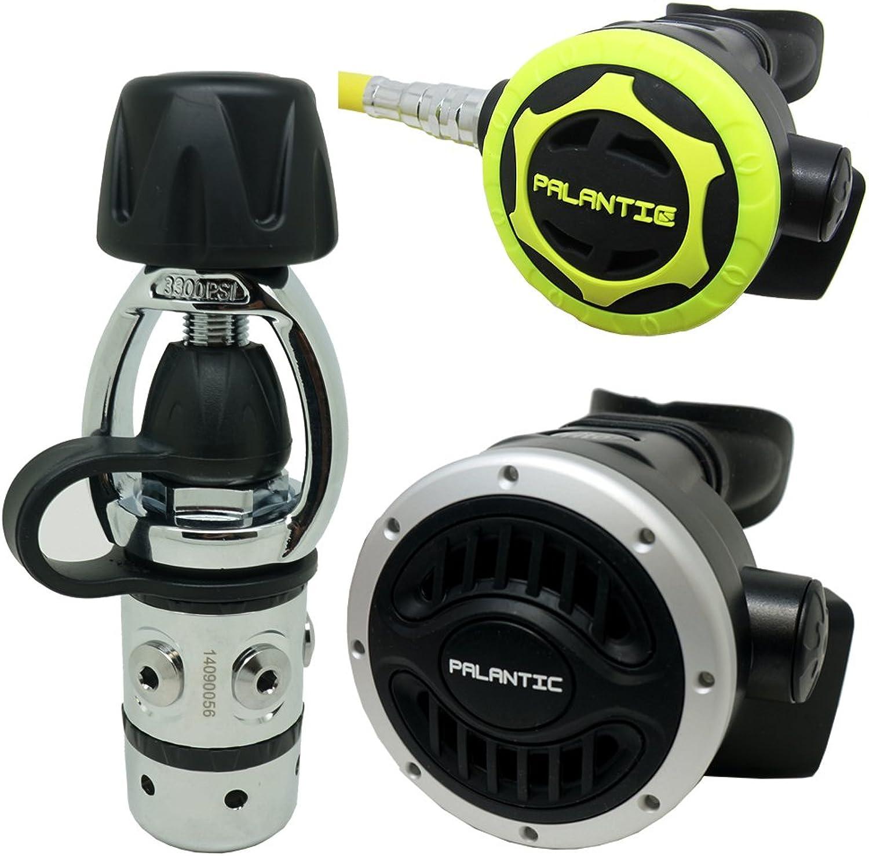 Palantic SCR01YOKENAOC Scuba Diving Dive AS101 Yoke Regulator and Octopus Combo