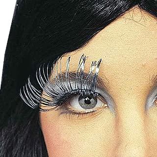 Rubie's Long Metallic Silver False Eyelashes