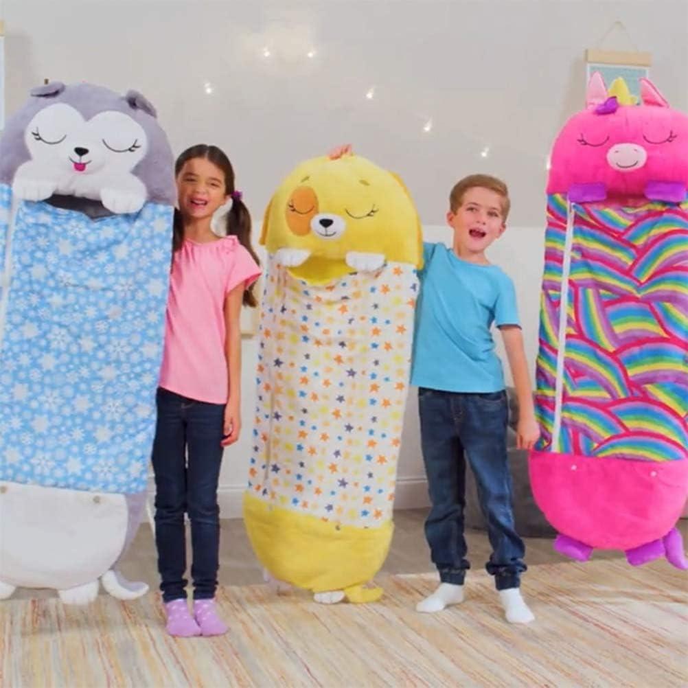 MYJZY Grand Happy Kids Nappers Jouer Oreiller, Fun Sac de Couchage Sac de Couchage Doux Pliable Animal Enfants,B D