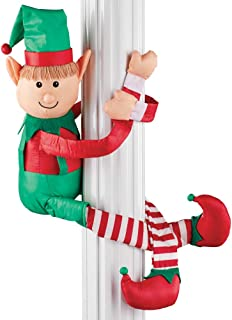 Collections Etc Elf Huggers with Poseable Arms Christmas Decoration - Outdoor or Indoor Use