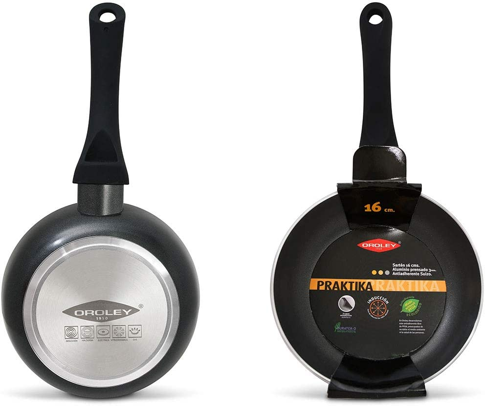 Inventory cleanup selling sale Oroley 299020200 Frying Pan Black cm unisex 20
