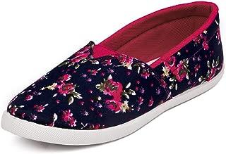 Asian shoes LR-99 Floural Blue Canvas Women Shoes