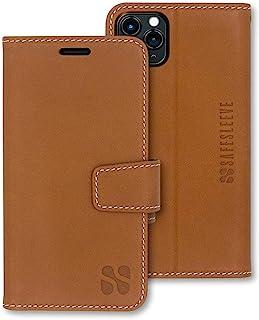 SafeSleeve EMF Protection Anti Radiation iPhone Case: iPhone 12 Pro Max RFID EMF Blocking Wallet Cell Phone Case (Leather)