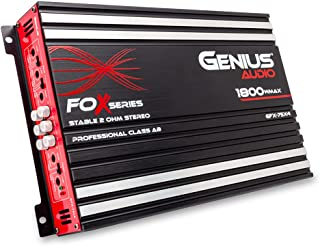 Genius Audio GFX-75X4 Full Range Powered Car Amplifier Multichannel 1800 Watts Max Class AB 2-Ohm Stable with Power Protec... photo