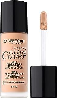Deborah Milano 24ORE Extra Cover Foundation, 0 Fair Rose, 30 ml