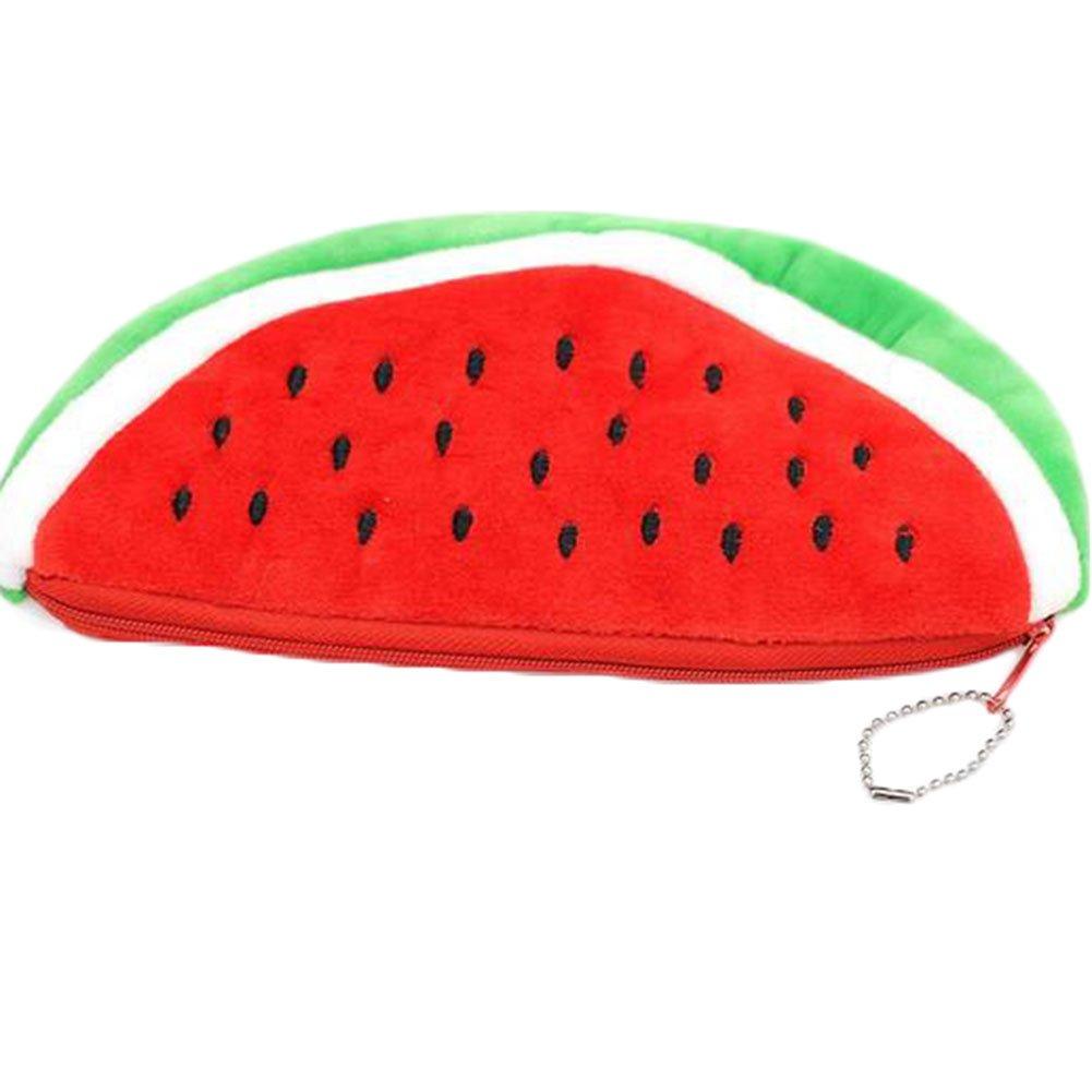 Nikgic - Bolso para bolígrafo de frutas, diseño de sandía, estuche de peluche, bolsa de maquillaje, monedero con cremallera 9 x 11cm rosso: Amazon.es: Hogar
