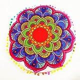 JieGorge - Cojines de suelo con mandala, redondos, bohemios, para decoración del hogar, para el día de Halloween (B)
