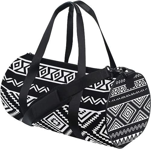 Gym Duffel Bag Tribal Aztec Training Duffle Bag BaLin Round Travel Sport Bags for Men Women