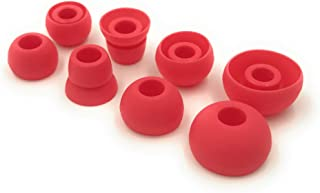 Siren Red Replacement Earbud Tips for Beats Powerbeats3 Wireless in Ear Headphones - Small, Medium, Large, and Double Flan...