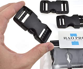 """SGH Pro Quick Side Release Buckles 1"""" Wide 6 Pack Dual Adjustable No Sewing Clips Snaps Heavy Duty Plastic Replacement for Nylon Strap Boat Cover Backpack Fanny Pack Nylon Webbing Belt Dog Collars"""