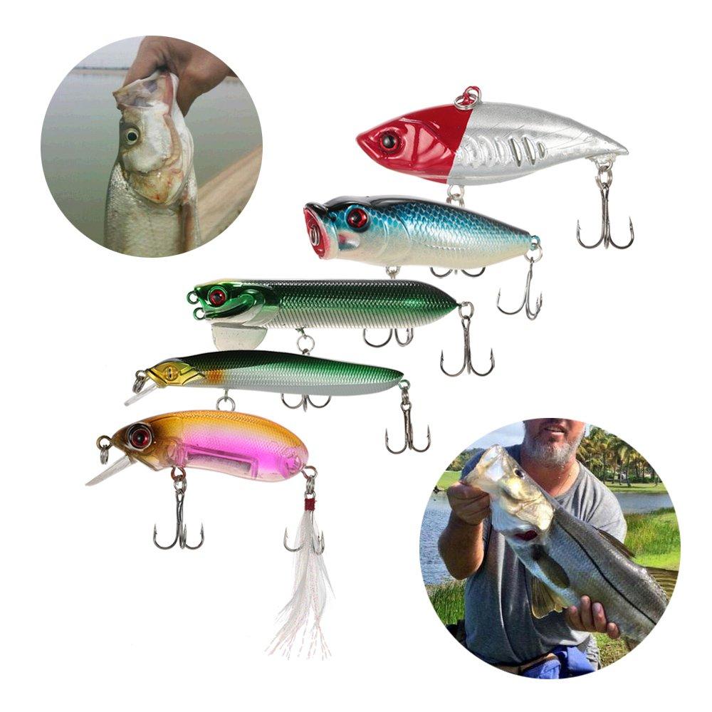 Lixada 110 Piezas Kit Señuelo de Pesca Artificial Caja de Pesca ...