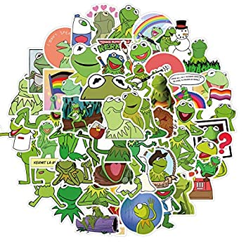 Cute Cartoon Stickers for Teen Kids Water Bottle Waterproof Decal for Girl Laptop Bicycle Skateboard Phone Computer Guitar Travel Case  Kermit The Frog