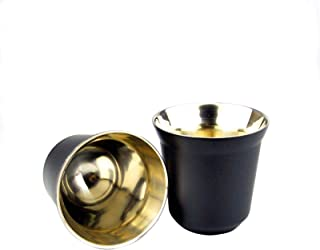 Tongdejing Tasses à Expresso en Acier Inoxydable, Tasse à café d'isolation Thermique réutilisable à Double paroi pour la M...