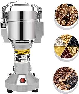 CGOLDENWALL Molino de Cereales Eléctrico 150g Molinollo de Hierba Oscilante de Acero Inoxidable Alta Velocidad Superfina para Hierba Café Maíz Especias Condimentación Hogar Comeicial 110/220V