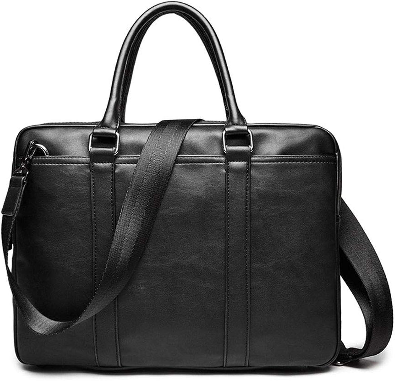 QARYYQ Handtasche Business Bag Leather Fashion Jugend Schulter Messenger Bag Koreanische Männer Aktentasche 38x6x28cm Aktentasche für Unternehmen B07NWDRFZP
