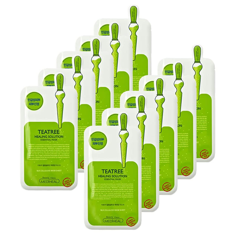 禁止するコンパイル森MEDIHEAL(メディヒール) エッセンシャルマスクパック10枚セット/ティーツリーヒーリング