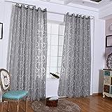 Sunwords Eleganti tende a balze per camera da letto, soggiorno, finestra,  decorazione per la casa, Poliestere, Grey, 39.37' x 98.43'
