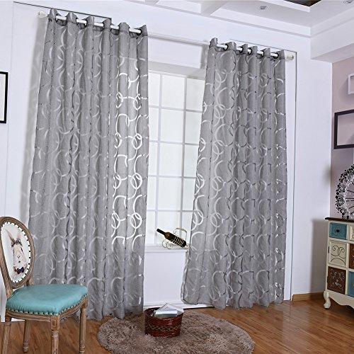Sunwords Eleganti tende a balze per camera da letto, soggiorno, finestra,  decorazione per la casa, Poliestere, Grey, 39.37