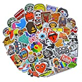 100 Pieces Waterproof Vinyl Stickers for Personalize Laptop, Car, Helmet, Skateboard, Luggage Graffiti Decals (A - section)
