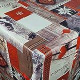 Wachstuch Wachstischdecke Tischdecke Gartentischdecke Rentier Herzen Weihnachten Breite & Länge wählbar 140 x 200 cm Eckig abwaschbar