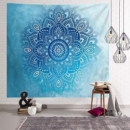 Bubinix Tapiz de Pared para Dormitorio, salón, Colgante, Indio, Bohemio, Cielo Estrellado, Mandala, Elefante, Bosque Tapices Alfombra de Pared 150 x 200 cm (Style 7)