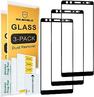 [3-PACK]-Mr.Shield لهاتف HTC U12+/ HTC U12 Plus [زجاج ياباني مقسى] [صلابة 9H] [غطاء كامل] واقي شاشة مع استبدال مدى الحياة
