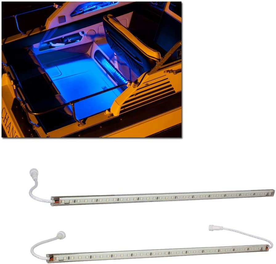 LEDGlow Cheap mail order sales Limited time for free shipping 2pc Blue LED Boat Marine Accen Deck Cabin Gunnel Under