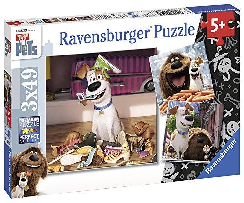 Ravensburger Italy- Pets Puzzle per bambini-3x49 Pezzi, Multicolore, 09413