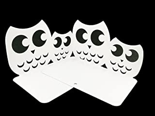 Perfect Mother's Day Gift One Pair Creative Cute Nonskid Owl Animal Art Bookends for Kids Girls Birthday Gifts (White)