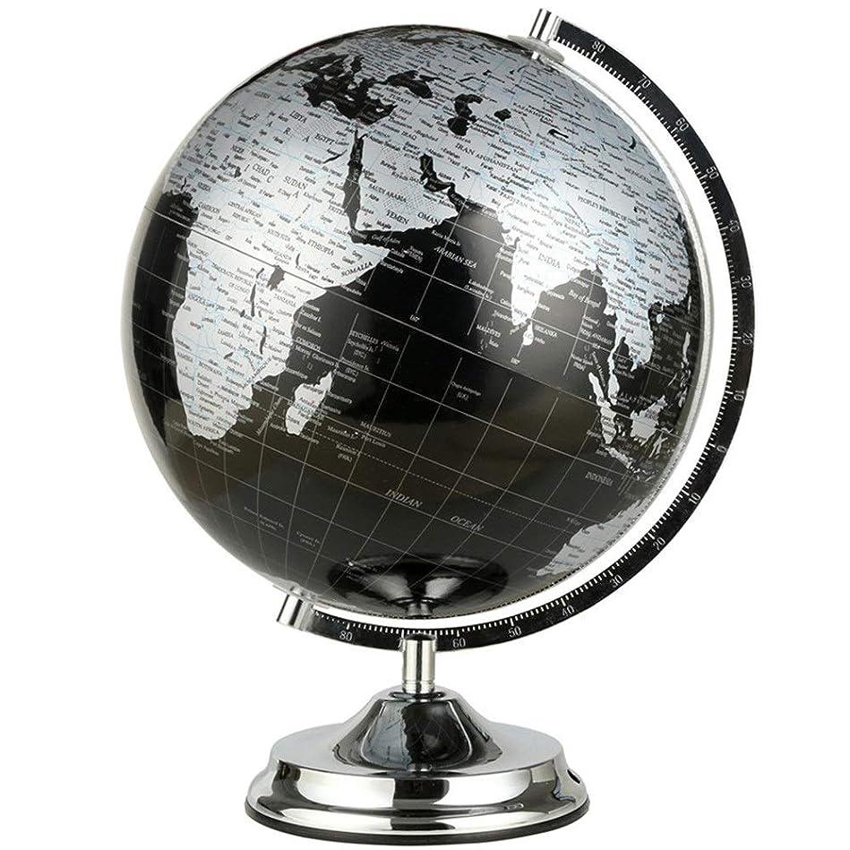 それから耐えられない横地球儀 グローブスケールブラケット大オーナメントホーム振り子HD地図事務所装飾ティーチングギフト 学習 入学 (Color : Black, Size : Free size)