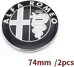 Specials sale Black white Color 74mm 7.4cm ALFA ROMEO Car Logo emblem Badge sticker for Mito 147 156 159 166 (Black)